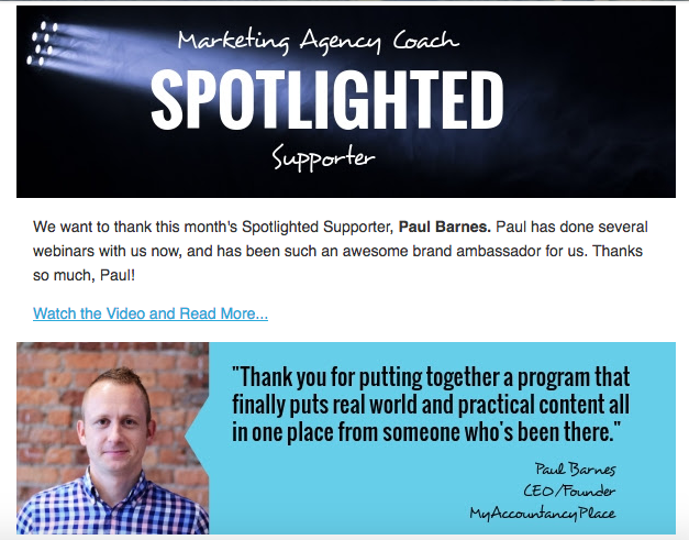 Digital agency Newsletter evergreen content spotlight